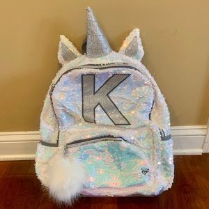 Rare Brand New Justice Sequin Unicorn backpack